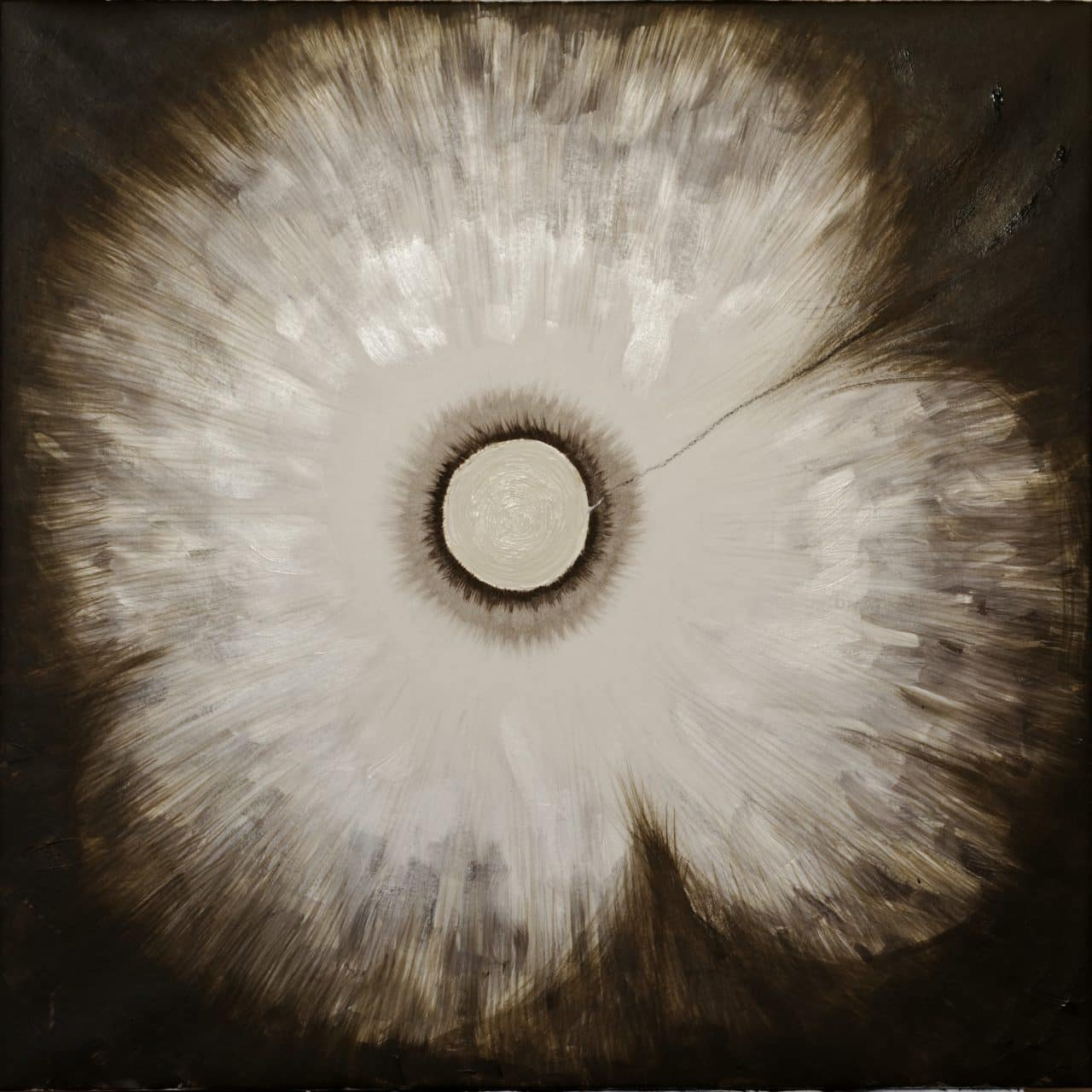 Into The Unknown #6 Acrylic Charcoal 68x68cm 2016 Jeroen Carelse