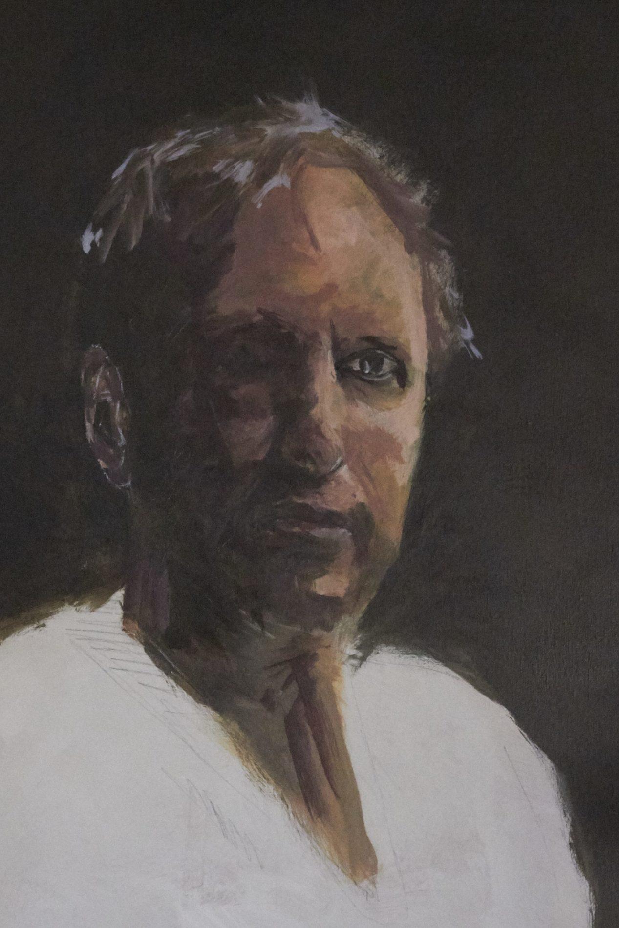 Jeroen Self Portrait - Process. ©Jeroen Carelse